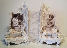 annes papercreations: Shabby Chic romantic bookends with bookmarks  with...