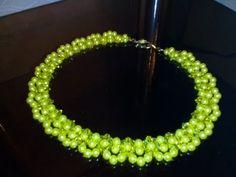 Колье из бусин и биконусов. МК. DIY.Tutorial: beaded necklace. - YouTube