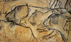 Lions - Grotte Chauvet (France) Peinture rupestre - Cave painting