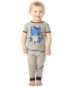 Gray & Blue Batman Pajama Set - Infant & Toddler by Batman #zulilyfinds