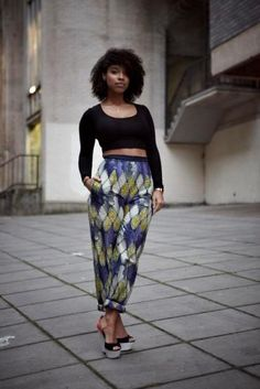 Lianne La havas in Tina Labondi trousers (print from Vlisco)