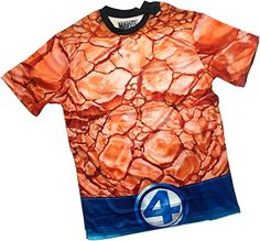 Traje -- The Thing Por Todas Partes Frente Y Atrás Imprimir Sports Fabric Camiseta, L #regalo #arte #geek #camiseta