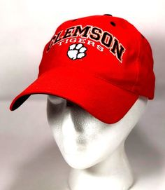Clemson Tigers Embroidered Dad Cap Hat Orange Hook and Loop Back 9a8b98437f57