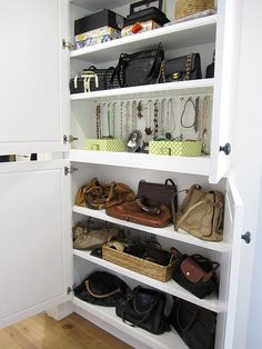 Shallow shelves are a great idea and good use of space