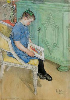 """Anna-Johanna Grill"", 1915, by Carl Larsson (Swedish, 1853-1919)"