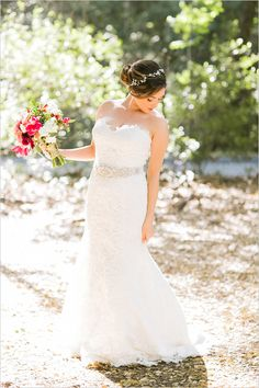 lace and beaded belt dress from BoLee Bridal