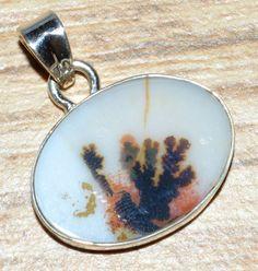 Scenic Dendritic Agate 925 Sterling Silver Pendant Jewelry JJ3997