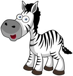 horse cartoon zebra