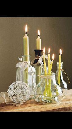 1000 images about ideas para el hogar on pinterest wine - Decoracion con velas ...