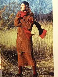 Perry Ellis tweed sweater over skirt from Fall/Winter 1982