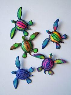 sea turtle wall art sculpture by artistJP on Etsy, $14.00