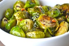 Roasted Brussel Sprouts with Toasted Pine Nuts and Balsamic Glaze