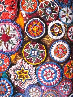 Native american beadwork mandala