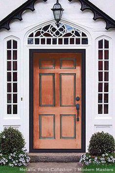 Metallic Copper Paint Door featured in Oprah magazine   Modern Masters