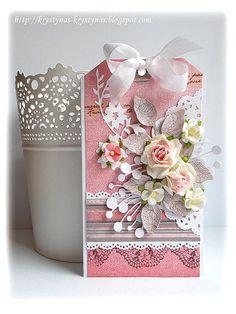 """Lift kartki Betik w ramach marcowego liftowania na blogu Scrapki.pl scrapkipl.blogspot.com/2013/03/zabawa-w-liftowanie-marzec... na bazie papierów z kolekcji """"The Queen's Heart"""" 7 Dots Studio"""