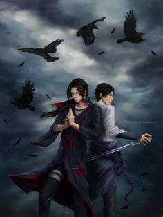 Itachi and Sasuke Uchiha by Zetsuai89.deviantart.com on @DeviantArt