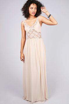 Crochet Touch Maxi Dress