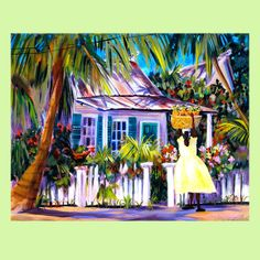 key west beach house painting