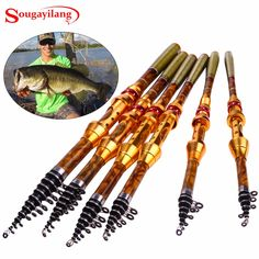 Cheap telescopic fishing rod, Buy Quality fishing rod directly from China carbon fiber telescopic Suppliers: Sougayilang Carbon Fiber Telescopic Fishing Rod Portable Spinning Fishing Rod Pole Travel Sea Boat Rock Fishing Rod Travel Fishing Rod, Fishing Life, Going Fishing, Carp Fishing, Fishing Rods, Pesca Spinning, Telescopic Fishing Rod, Spinning Rods, Telescope