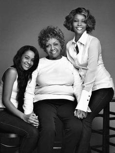 Whitney Houston With Daughter Bobbi Kristina Brown & Mom Cissy Houston