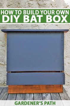 Building a bat box is an easy DIY activity that provides a home for the nocturnal wildlife in your area. With just a drill - no other power tools required - you Build A Bat House, Bat House Plans, Bird House Kits, Bat Box Plans, House Building, Table Diy, Table Cafe, Garden Tool Shed, Garden Tool Storage