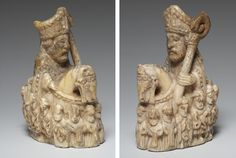 Chess Piece of a Bishop, 14th–15th century. German. Ivory. The British Museum, London (1857,0804.34) © The Trustees of the British Museum.