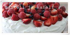 Manteli ja Kaneli: Raikas sitruuna-suklaamoussekakku Kaneli, Raspberry, Fruit, Food, Essen, Meals, Raspberries, Yemek, Eten