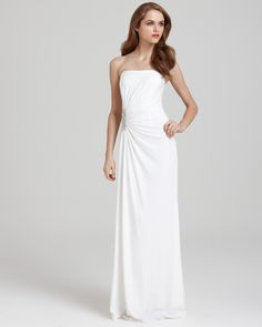 Laundry by Shelli Segal Gown -Beaded Draped Gown | Bloomingdale's