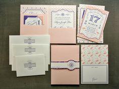 Letterpress wedding stationary set