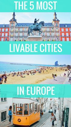 Thinking of moving to a city in Europe? Here are the most livable cities in Europe according to a city girl who is picky about where she can and can't live. Living In Europe, Cities In Europe, Central Europe, Backpacking Europe, Travel Europe, Travel Guides, Travel Tips, Travel Advice, Budget Travel