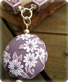 Moobie Grace  Necklace  Polymer Clay  by MoobieGraceDesigns