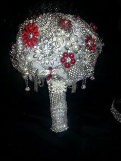 Bling Bridal Wedding Brooch Bouquet by LisaPCreations on Etsy, $255.00