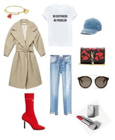 """Без названия #12"" by lidiya-yurtaeva on Polyvore featuring мода, Vetements, Yves Saint Laurent, Burberry, Frame, STELLA McCARTNEY и Mudd"