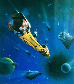 Painting by Tony Roberts from the book Spacecraft in Fact and Fiction by Harry Harrison and Malcom Edwards (1979) Check out my Greatest Scifi Soundtracks playlist on Spotify