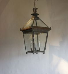 This is a beautiful English antique Lantern. All made out of copper. Find out more by visiting - http://www.antiquelightingandchandeliers.co.uk/english-antique-copper-inside-outside-pagoda-top-lantern-_item_11912