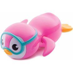 Munchkin Wind Up Swimming Penguin, Pink