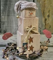 This snowman craft is so rustic. Make lovely homemade Christmas decorations as DIY Christmas gifts, or keep the snowman crafts for your own home decorating.