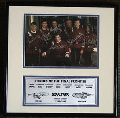 Star Trek - Heroes of the Final Frontier - Framed Signed Photo