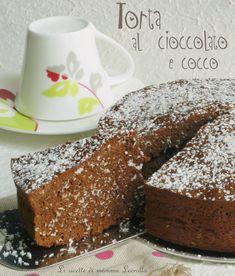 Cercate una ricetta da colazione o merenda sana? Ecco allora una torta soffice e golosa,ma non eccessivamente dolce.La torta al cioccolato e cocco è pronta!
