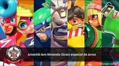 Mais detalhes sobre o jogo serão mostrados, um mês antes de seu lançamento.  #Arms #Nintendo #Switch #NintendoSwitch #VaoJogar #VideoGames #Games #InstaGames