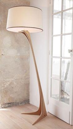 Wooden floor lamps, Diy floor lamp, Modern floor lamp design, Wood floor lamp, F… - All For House İdeas Corner Floor Lamp, Diy Floor Lamp, Wooden Floor Lamps, Wooden Lamp, Wood Floor, Cool Floor Lamps, Diy Flooring, Bedroom Lamps, Cool Lighting
