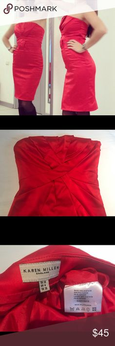 Beautiful gown. Karen Millen Beautiful gown. Pencil dress. Very classic and elegant. Low back. Gently used condition, carefully inspected for quality assurance. Smoke free home. Please see all imperfections on the last picture. Karen Millen Dresses Midi