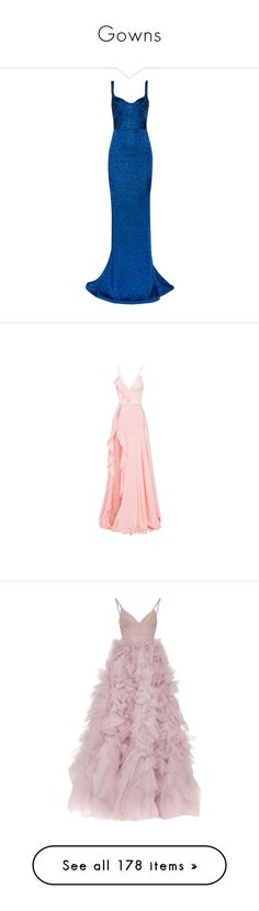 """""""Gowns"""" by amyfernandez010 ❤ liked on Polyvore featuring dresses, gowns, long dresses, vestidos, zac posen, cobalt blue, long blue gown, long evening gowns, blue gown and pleated dresses"""