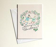 Polar bear Christmas cards Set of 3 Illustrated cards