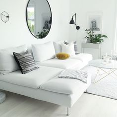 New Living Room Ikea Couch White Sofas 42 Ideas Living Room Decor Ikea, Living Room Furniture, Apartment Decorating Livingroom, Living Room Decor Apartment, Minimalist Living Room, New Living Room, Ikea Couch, Apartment Decorating Living, Ikea Sofa