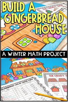Winter Math Activity & Craft - Build a Gingerbread HouseChristmas math is fun and easy with this awesome Christmas project based learning unit. Use the activities with and grade students during the . Math Crafts, Math Projects, Second Grade Math, Grade 3, Christmas Math, Homeschool Math, Project Based Learning, Math Classroom, Classroom Ideas