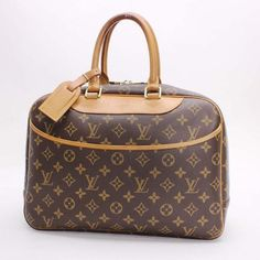 Louis Vuitton Boring Vanity (Deauville)  Monogram Handle bags Brown Canvas M47270