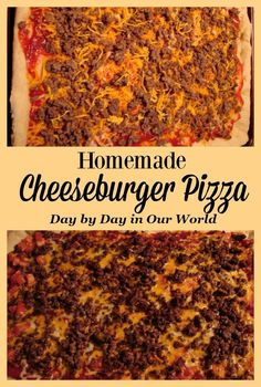 Love pizza? Want to make it at home? Learn how to easily make this homemade cheeseburger pizza. #pizza #recipe #pizzarecipe