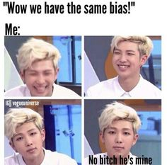 I like this meme, but let's focus on how handsome Namjoon is for a while, shall we?