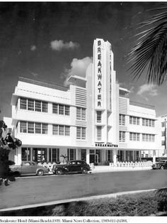 ), Designed by Anton Skislewicz and built in 1939 at 940 Ocean Drive, Miami Beach. Credit: Miami News Collection, HistoryMiami. Image no. Hotels in Ocean Drive! Miami Beach Hotels, South Beach Miami, Beach Resorts, Palm Beach, Vintage Florida, Vintage Hawaii, Vintage Ski, Vintage Travel, Vintage Posters